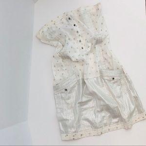 CUSTO BARCELONA Shine silver stars and white dress